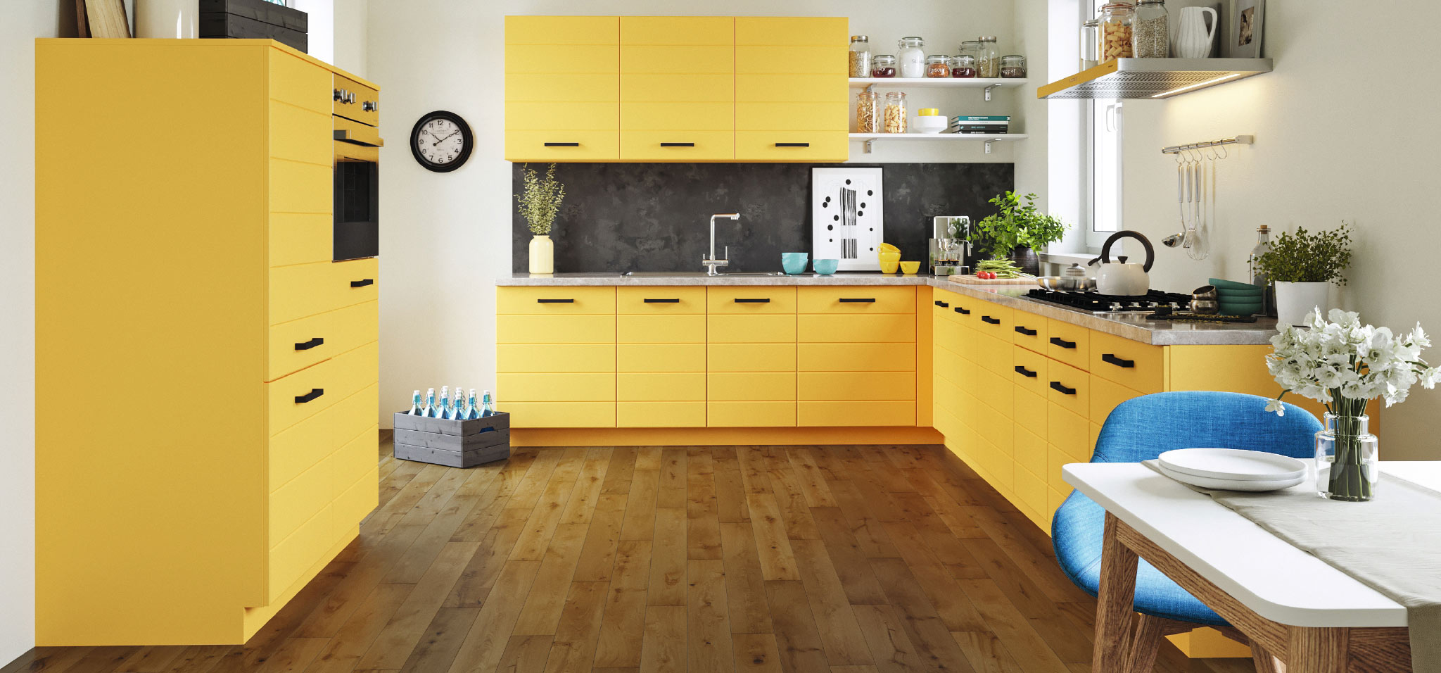 küchenfronten-erneuern-gelbeküche